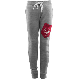 Aclima FleeceWool Joggers Kids, grey mélange/ chili pepper